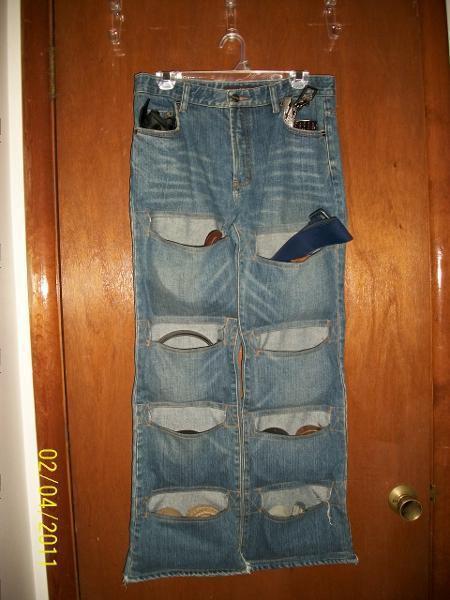 Органайзер из джинс своими руками