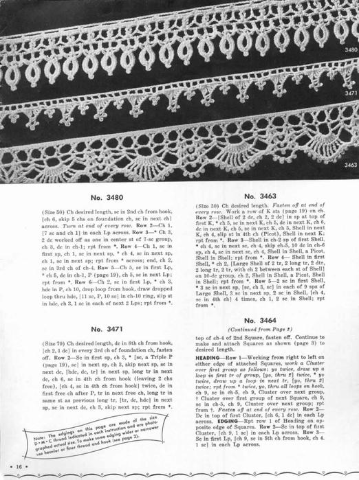 1951 Crochet Easy to make Edgings-16 (522x700, 247Kb)