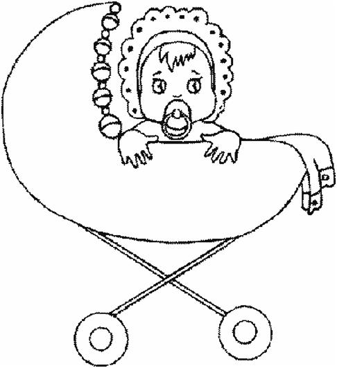 Раскраска новорожденного