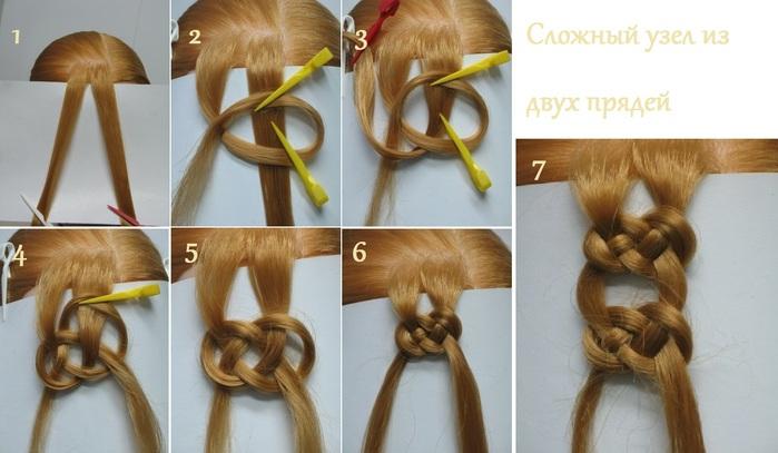 Узелки плетение волос узелками