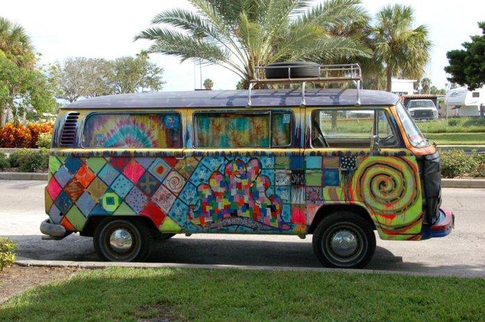 Автобус - хиппи!