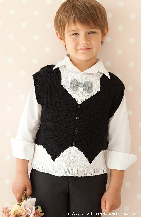 1.Tuxedo Vest by Linda Medina (452x700, 165Kb)