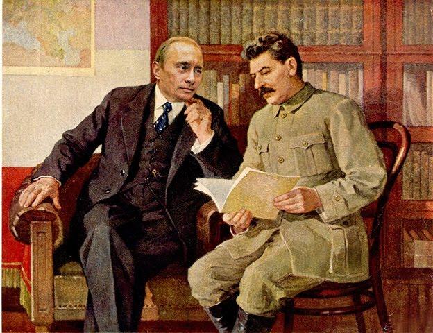Путин и Сталин (624x480, 92Kb)