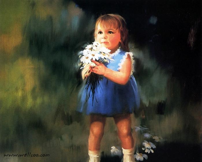 Маленькая девочка с цветами картинки 2