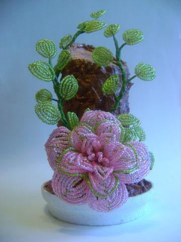 Цветы с бисера мастер класс с пошаговым фото для начинающих