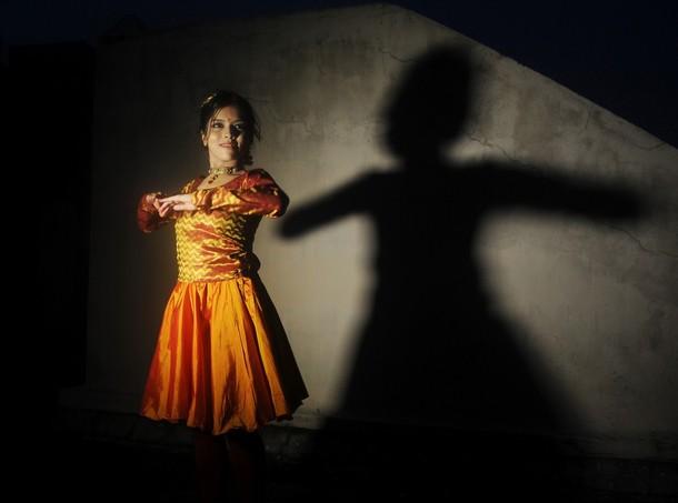 Мировой рекорд в танце Катхак спиннинг в Калькутте, 23 августа 2012 года.