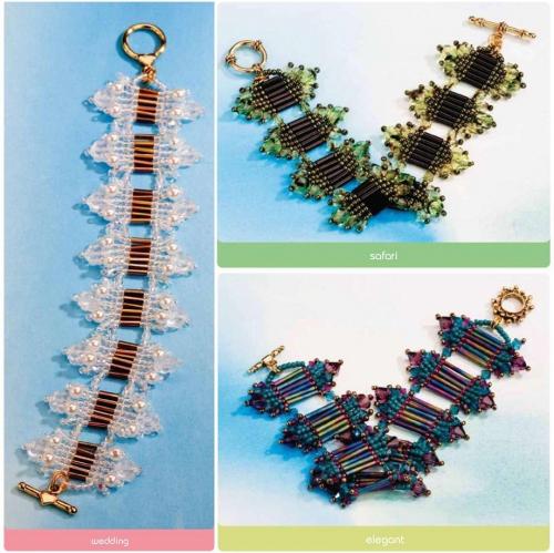 Разноцветные браслеты из бисера, стекляруса и кристаллов.  На любой случай вы можете подобрать цвет бисера и сплести...