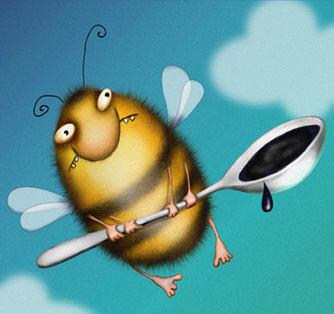 Рисунок пчелы медоносной