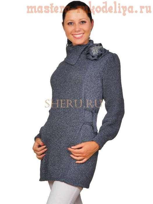 Схема вязания: Пиджак-платье