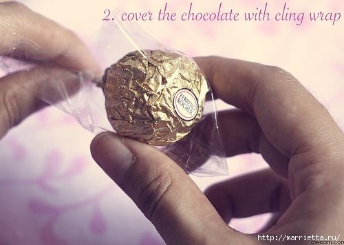 Фото мастер-класс по букетам из конфет