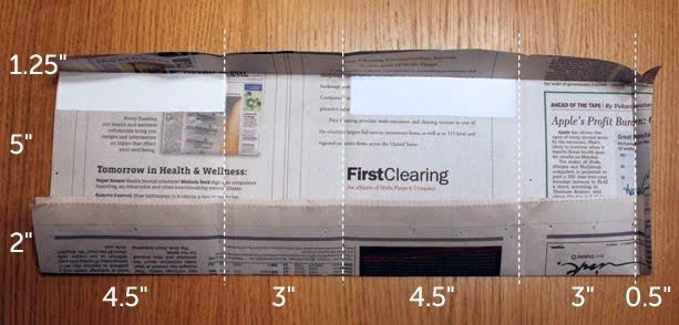 Как сделать подарок из газеты