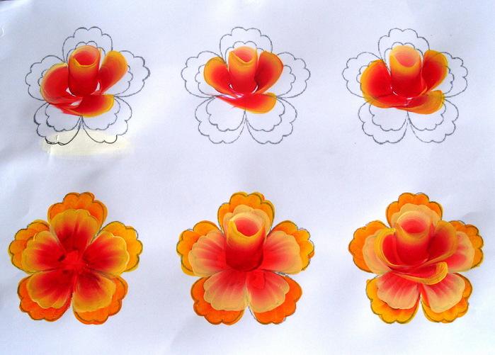 роза двойным мазком. мастер класс тагильская роза. мк по росписи one stroke