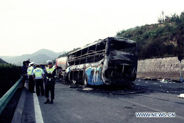 В автобусе заживо сгорели 36 человек