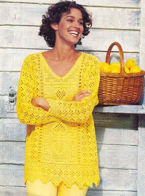 пуловер. модели для полных