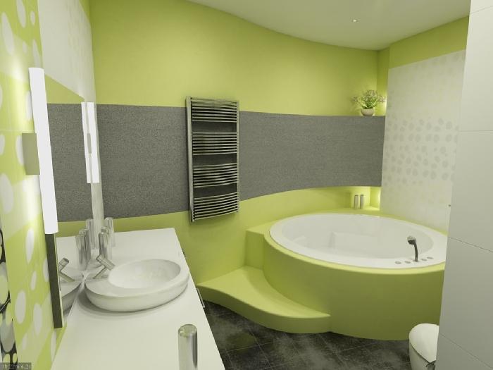 модный дизайн ванной.