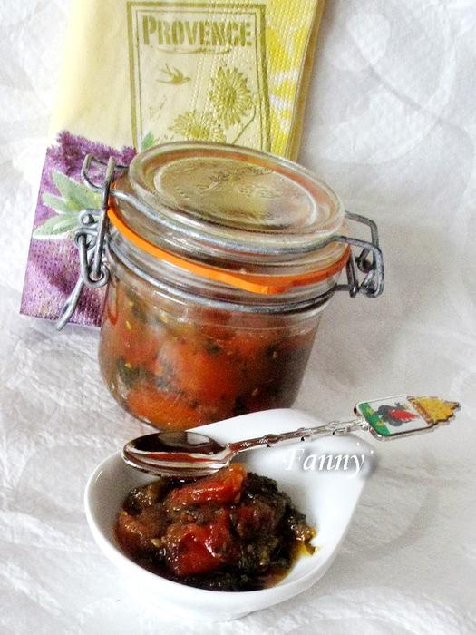 Конфитюр из помидорок черри и базилика