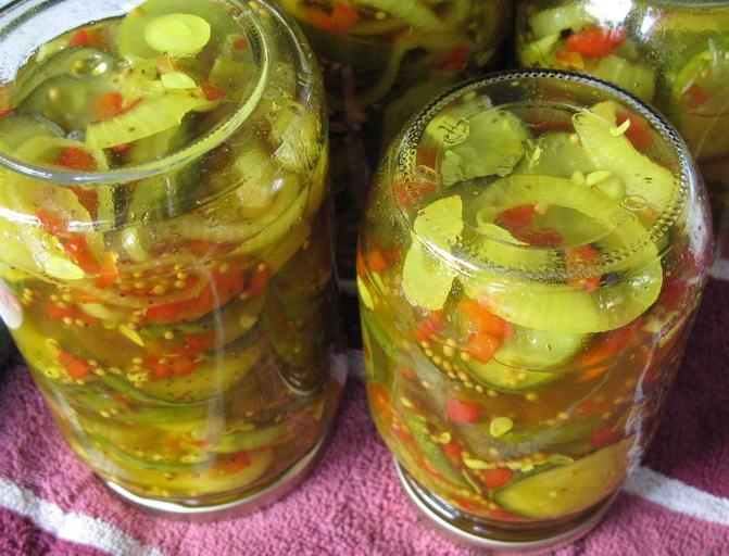 салат из огуров на зиму рецепты