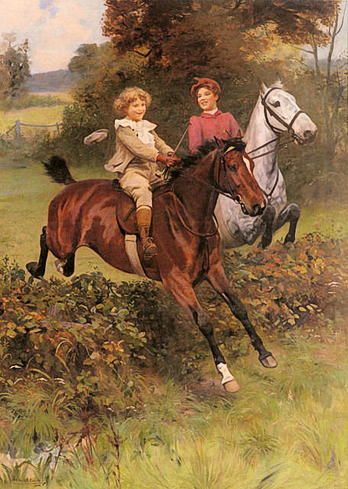 His First Fence, by Arthur Elsley (499x700, 469Kb)