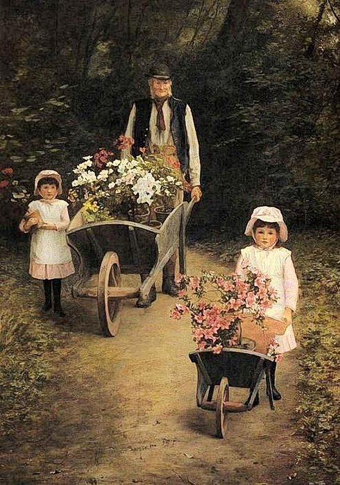 Helping Gardener, by Mary Hayllar (490x700, 400Kb)