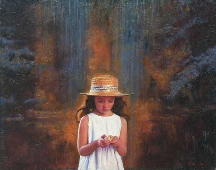 Children in art - Odysseas Oikonomou [Οδυσσέας Οικονόμου] 1967 - Albanian-Born Greek Figurative painter (13) (700x553, 238Kb)