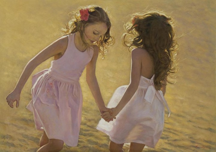 Children in art - Odysseas Oikonomou [Οδυσσέας Οικονόμου] 1967 - Albanian-Born Greek Figurative painter (19) (700x494, 199Kb)