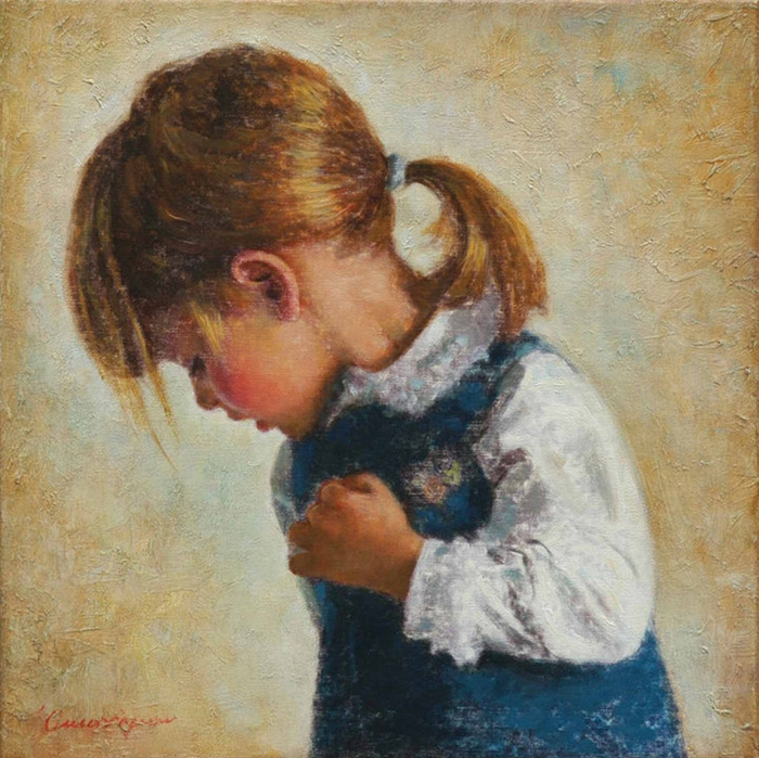 Children in art - Odysseas Oikonomou [Οδυσσέας Οικονόμου] 1967 - Albanian-Born Greek Figurative painter (23) (700x699, 391Kb)