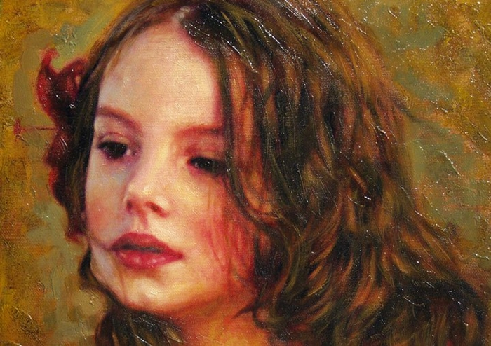 Children in art - Odysseas Oikonomou [Οδυσσέας Οικονόμου] 1967 - Albanian-Born Greek Figurative painter (27) (700x494, 306Kb)
