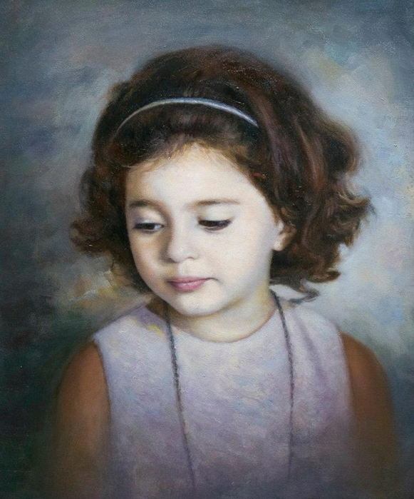 Children in art - Odysseas Oikonomou [Οδυσσέας Οικονόμου] 1967 - Albanian-Born Greek Figurative painter (49) (581x700, 277Kb)
