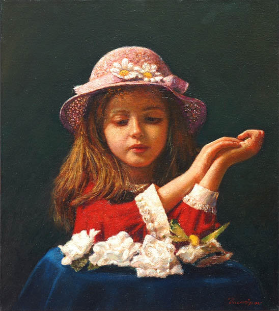 Children in art - Odysseas Oikonomou [Οδυσσέας Οικονόμου] 1967 - Albanian-Born Greek Figurative painter (12) (548x610, 70Kb)