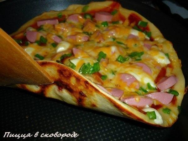 Пицца на сковороде (600x450, 54Kb)