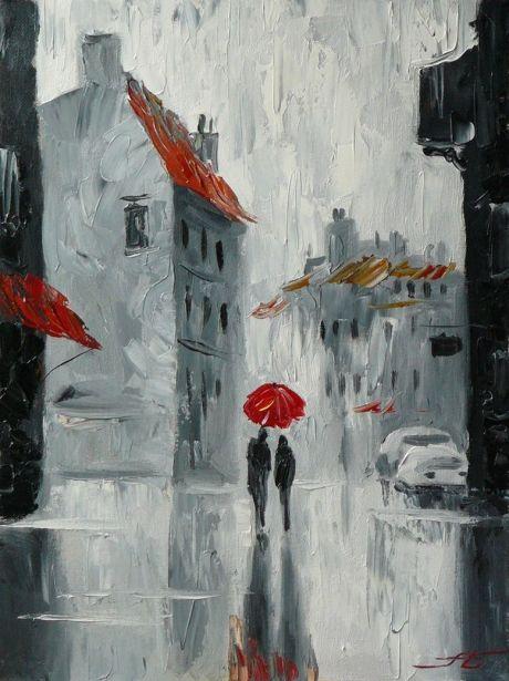 В городе из серии лондонские дожди