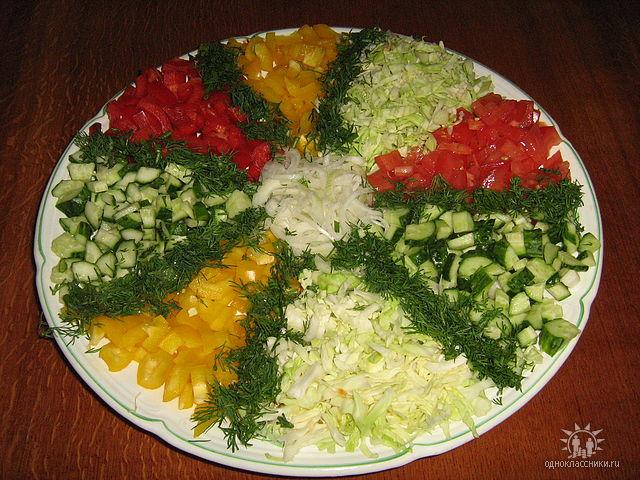 Рецепты овощные салатов с