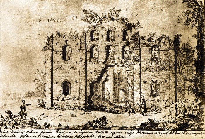 8 Руїни невідомого храму ХІ ст. Західний фасад (700x474, 190Kb)