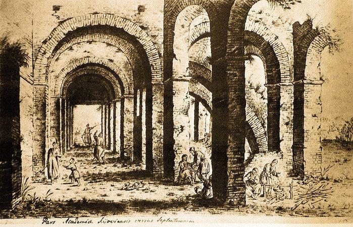 17 Собор св. Софії. Західні галереї, вигляд з півночі (700x450, 182Kb)