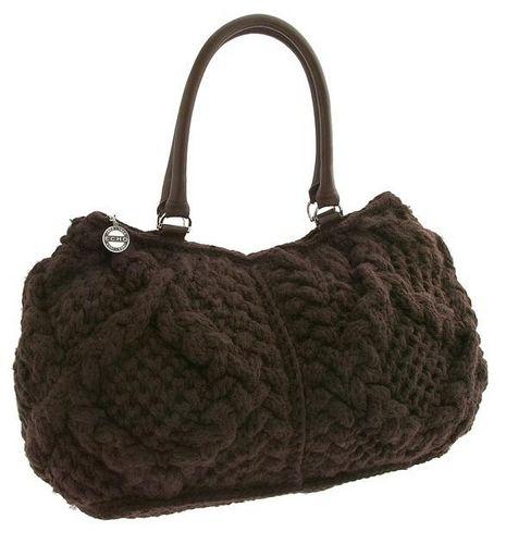 схема вязания сумки спицами.