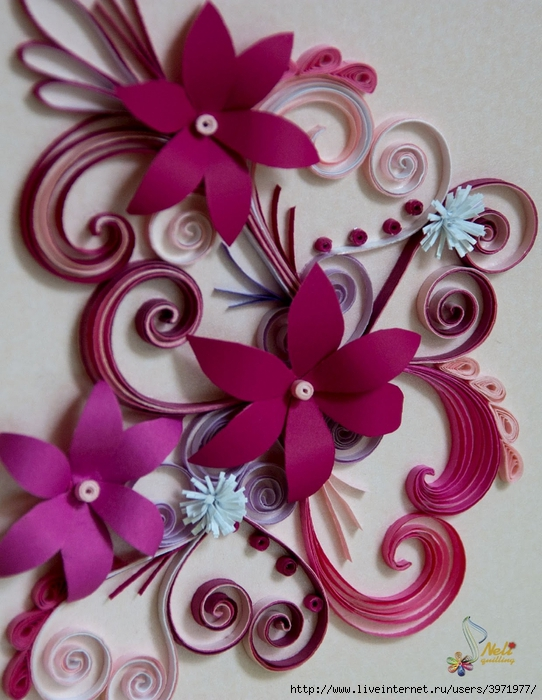 Квиллинг картинки для начинающих цветы 1