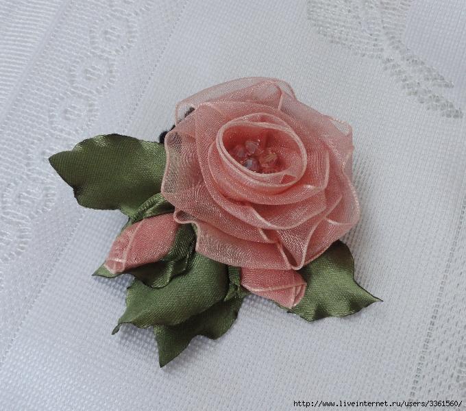 Розы из капроновой лент своими руками