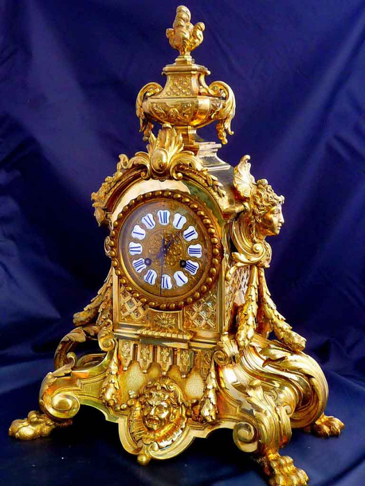 антиквариат,часы,бронзовые часы (525x700, 412Kb)