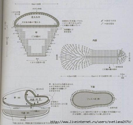 Вязание тапочек крючком схемы вязания тапочек 29