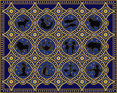 Часть 12.  Месяцы-цветы.  Знаки зодиака в монохроме.  Зодиак.