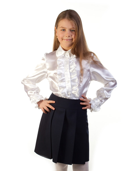 Блузка Голубая Для Девочки В Воронеже
