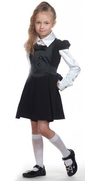 Школьная блузка для девочки атлас 95