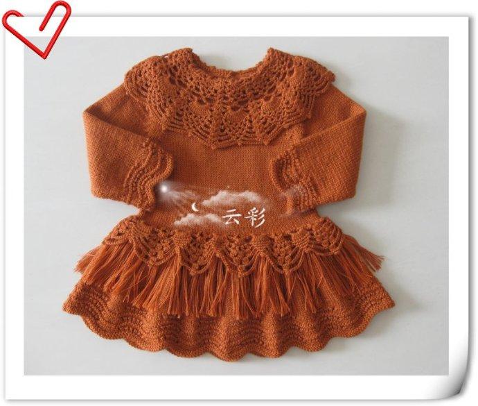 Платья, туники, сарафаны для девочек спицами » «Хомяк55