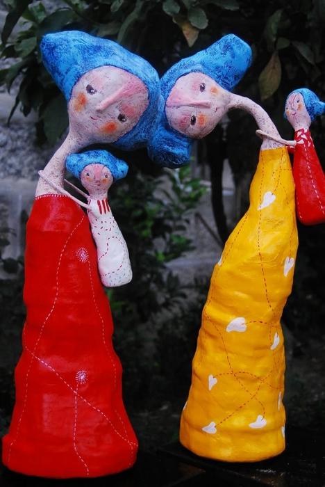 Куклы из папье-маше своими руками фото