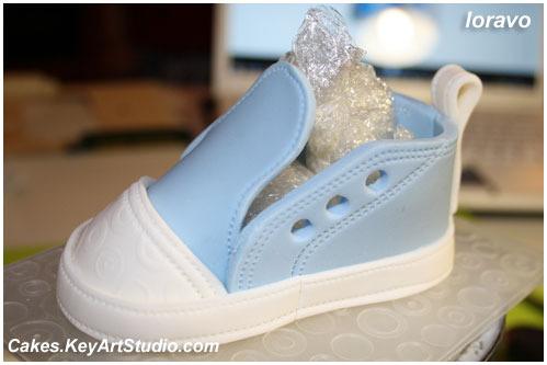 Ботиночки из мастики выкройка