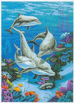 Категория.  22.11.2011. Вышивка крестиком - Дельфтнчики.  Животные.  Просмотров: 317 Дата.