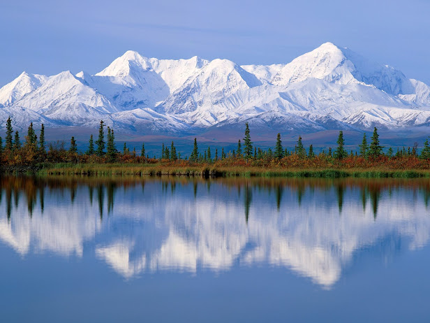 Majestic Reflections, Alaska (616x462, 84Kb)