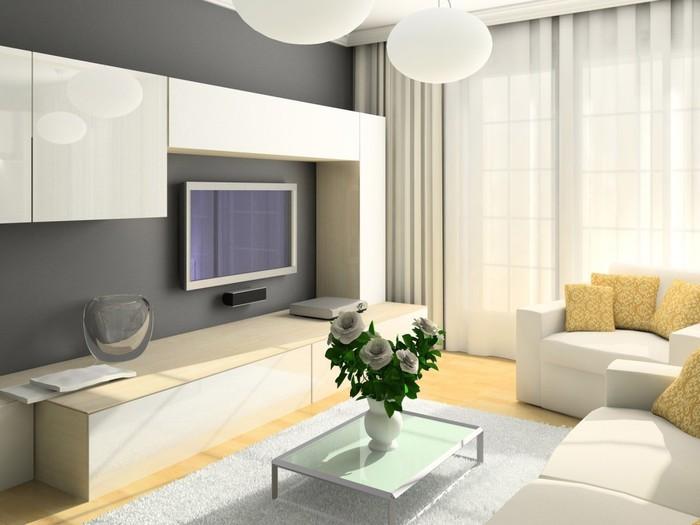Интерьер зала в квартире 16 кв