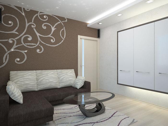 Интерьер спальни 15 м