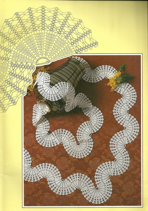 钩针花边:几个漂亮的图案 - maomao - 我随心动